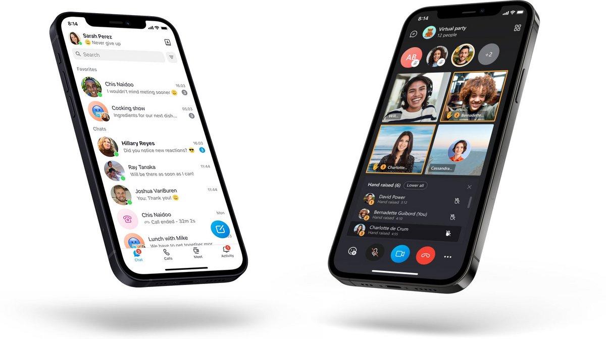 Nouveau design Skype mobile © Skype