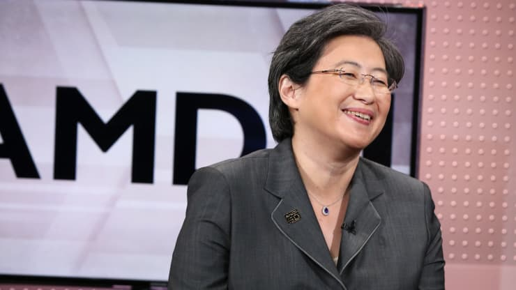 Lisa Su (AMD) © CNBC