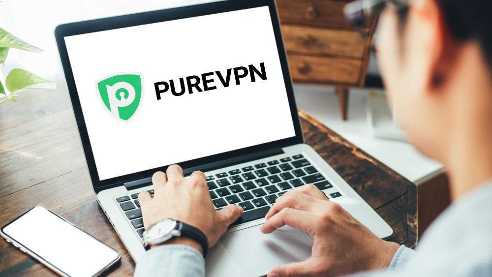 man using purevpn