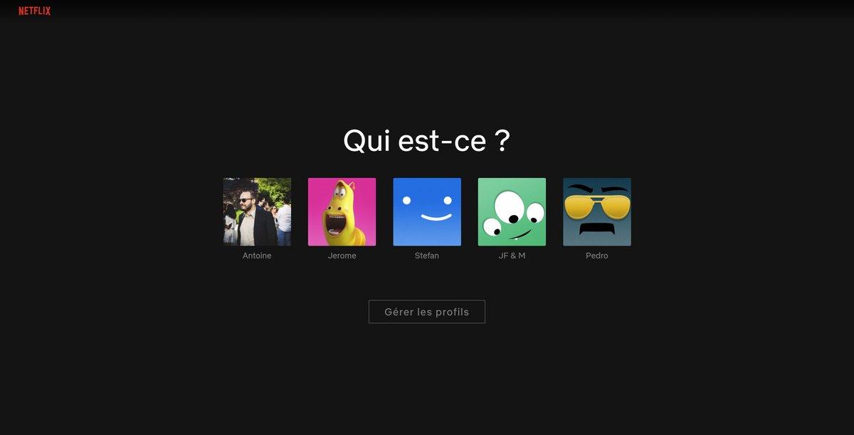 netflix profil © Capture d'écran