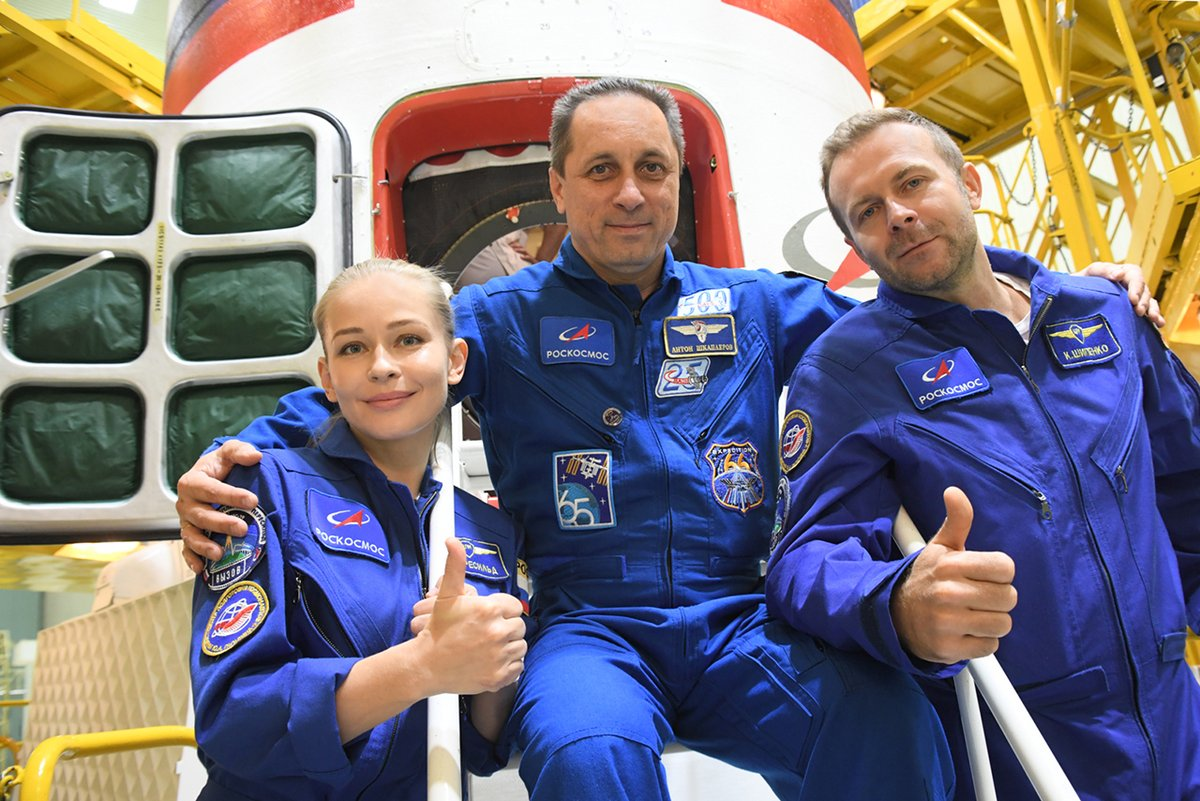 Soyouz MS-19 équipage Le Challenge © Roscosmos