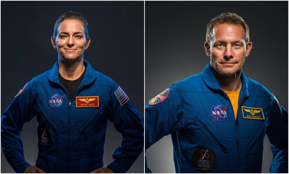 NASA Mann Cassada astronautes © NASA