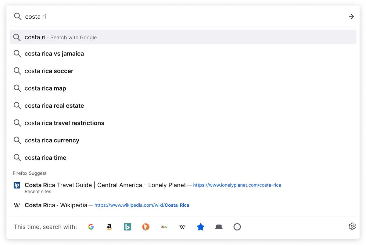 Firefox Suggest