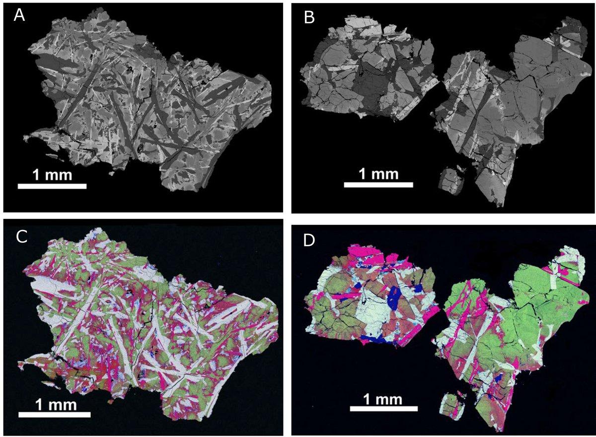 Echantillons lunaires Chang'E 5 basalte © DOI: 10.1126/science.abl7957, Che & All, Science, 2021