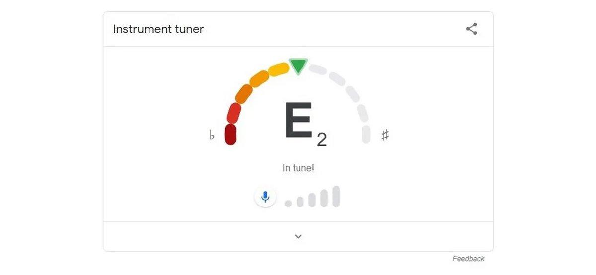 Accordeur de guitare Google © Google via The Verge