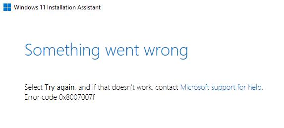 Erreur 0x8007007f Windows 11 © Microsoft via Windows Latest