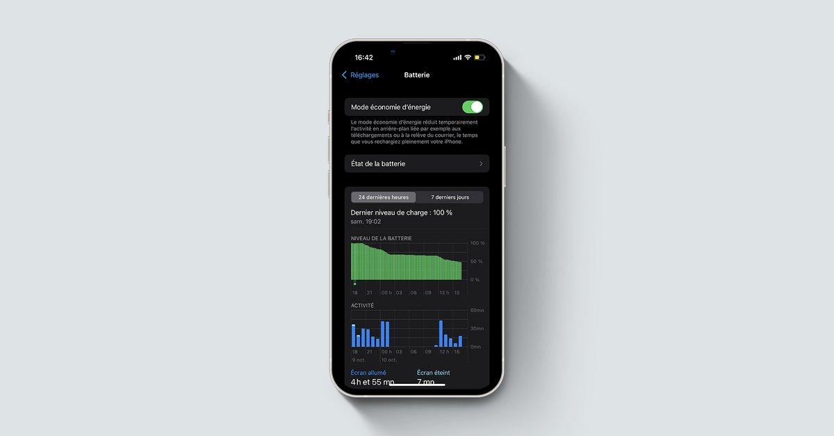 Mode économie énergie iPhone iOS © Apple via Clubic