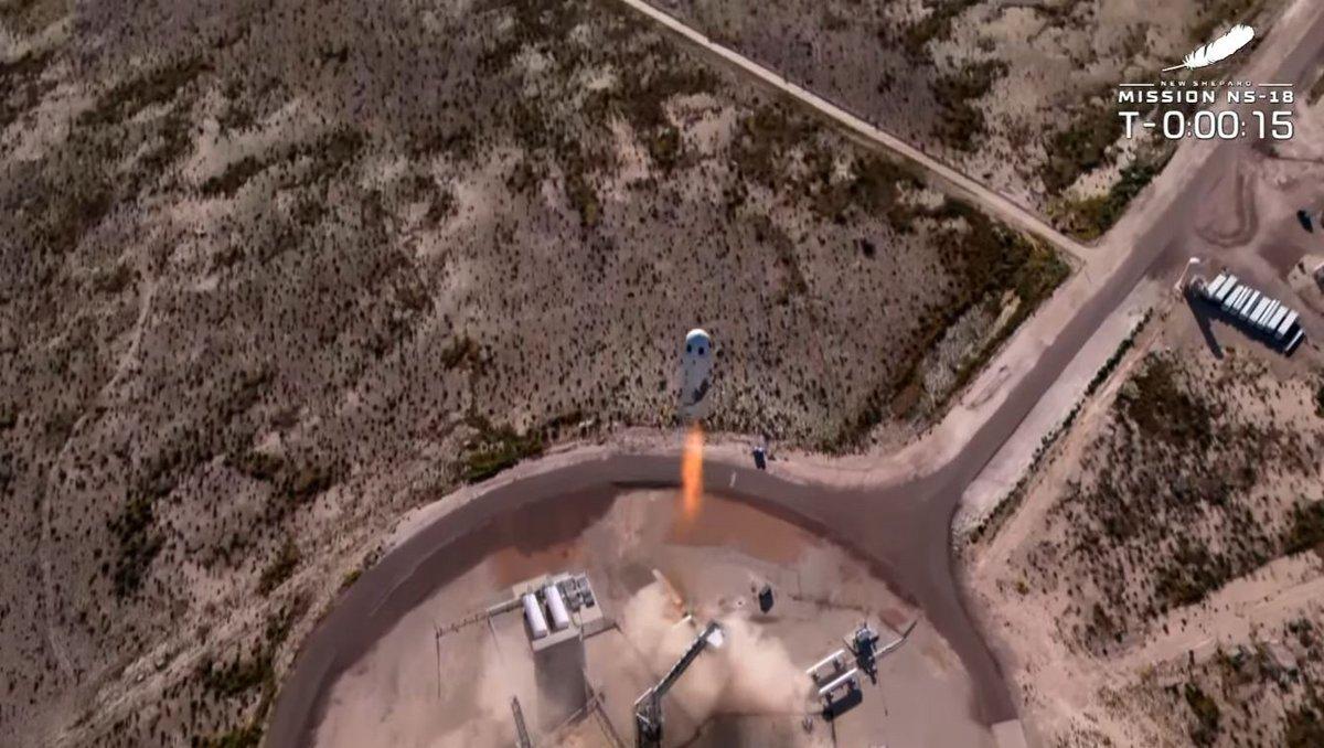 New Shepard NS18 shatner star trek Blue Origin vol © Blue Origin