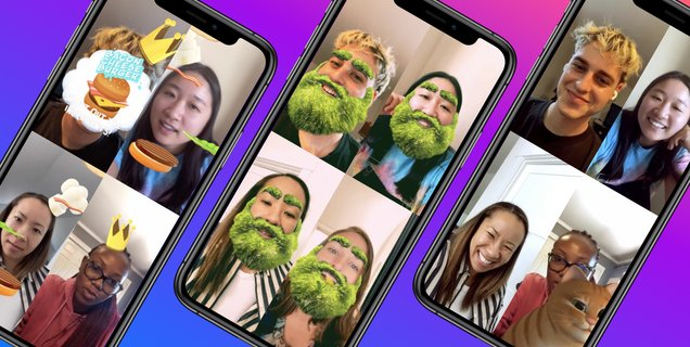 Facebook Messenger et Instagram ont de nouveaux effets et jeux pour les appels de groupe