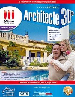 Logiciel Micro Application Architecte 3D HD Pro CAD 12