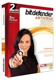BitDefender Antivirus 2011 (2 ans 3 postes)Windows Logiciels antivirus et sécurité BitDefender