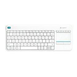 K400 Plus - Blanc (920-007130)USB Sans fil Sans souris AZERTY