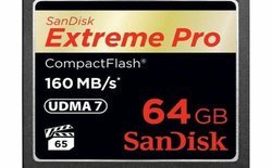 CompactFlash Extreme Pro 64Go 160MB/sCompact Flash 160MB/s 64 Go
