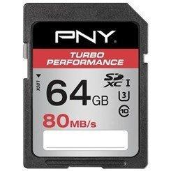 Turbo Performance SDXC 64Go (80Mo/s) Classe 10 SDXC 64 Go