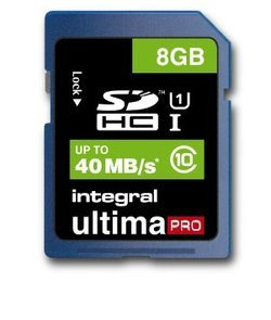 UltimaPro SDHC 8Go (40MB/s) - Black SDHC / Secure Digital High Capacity 8 Go Classe 10 40MB/s