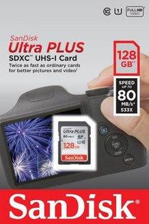 Ultra Plus SDXC 128Go UHS-I SDXC 80MB/s 128 Go UHS-1