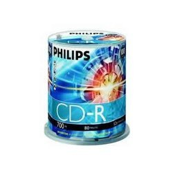 cd dvd vierges philips cd r 80 mn par 100 pas cher prix. Black Bedroom Furniture Sets. Home Design Ideas