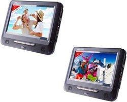 VRT199portable Port USB CD-R CD-RW Double écran CD Audio MPEG4 JPEG, MP3 DVD Lecteur cartes mémoire 9 pouces