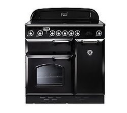 Classic 90 Noir5 foyers avec four électrique 53 litres catalyse chaleur tournante noire manuel avec double four induction 67 litres