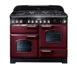 CDL 110 ECCYC - Rouge5 foyers avec four électrique catalyse chaleur tournante multifonction avec double four induction rouge 67 litres 62 litres