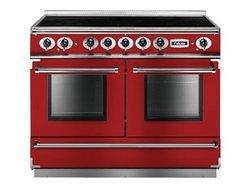 FCON 1092 EIRDN Rouge Cerise5 foyers chaleur tournante multifonction avec tiroir de rangement induction avec témoin de chaleur résiduelle avec fonction décongélation 68 + 79 litres rouge cerise