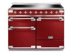 ELS 110 EIRDEU5 foyers chaleur tournante multifonction avec tiroir de rangement électrique avec four multifonctions grande largeur avec fonction décongélation rouge cerise 69 + 69 + 21 litres
