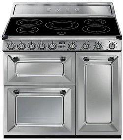 TR 93 IX5 foyers inox manuel avec commandes manettes induction avec four multifonctions avec porte ventilée avec témoin de chaleur résiduelle 62 + 61 + 36 litres
