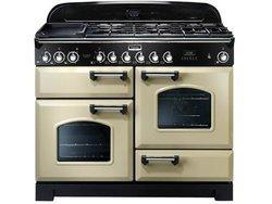 CDL 110 EICRB5 foyers avec four électrique chaleur tournante induction crème avec minuterie
