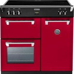 Richmond 90 EI Jalapeno5 foyers avec four électrique multifonction convection naturelle manuel avec commandes manettes induction rouge avec chaleur tournante 39 + 69 + 91 litres