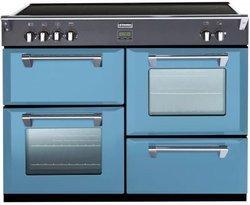 Richmond 110 EI Bleu Azur5 foyers avec four électrique multifonction convection naturelle manuel avec commandes manettes induction avec chaleur tournante bleu azur