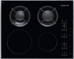 Table de cuisson De dietrich DTI 721 X. DTI 721 X4 foyers cadre inox mixte  gaz   induction 650183d3312d