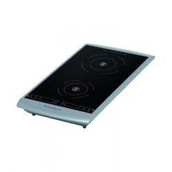 PC 493 noir induction 2 foyers avec touches sensitives avec allumage électronique à poser avec minuterie avec sécurité anti-surchauffe avec fonction maintien au chaud