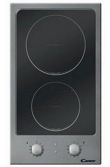 CDH 32 Xinox et noir vitrocéramique 2 foyers 2 radiants avec touches sensitives avec témoin de chaleur résiduelle 3000 Watts