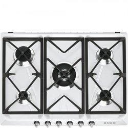 SR 975 BGHblanc gaz 5 foyers avec commande manette avec sécurité thermocouple avec allumage électronique encastrable fonte 70 cm