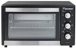 AGL 24 noir de 20 à 29 litres 1500 Watts avec minuterie avec thermostat réglable 23 litres rôtissoire grill avec fond amovible avec fonction maintien au chaud avec porte en verre