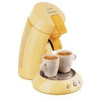 Senseo HD 7810/51jaune sans broyeur à café 2 tasses à dosette 1450 Watts 1,5 Bars