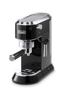 EC 680 BK Ultra Compact Noirnoir expresso 15 Bars 2 tasses 1450 Watts café moulu avec buse vapeur avec arrêt automatique avec réservoir amovible avec sélecteur d'arôme avec système anti-goutte avec plateau repose tasse avec sécurité anti-surchauffe