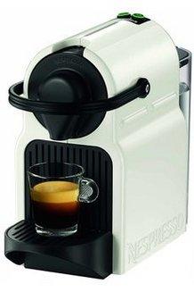 Nespresso Inissia YY 1530 FD Blancblanc sans broyeur à café expresso 19 Bars capsule Nespresso 1 tasse 1200 Watts avec réservoir amovible 0,7 litres avec plateau repose tasse
