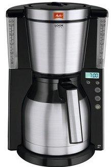 Look IV Therm Timer 1011-16 - Noir/Inoxnoir / inox 15 tasses café moulu 1,4 litres 1000 Watts avec écran LCD avec sélecteur d'arôme avec système anti-goutte avec départ programmable Avec extinction automatique acier inoxydable brossé Look IV Therm Timer
