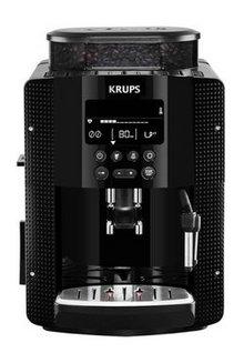 YY 8135 FDnoir 15 Bars 1,6 litres avec broyeur à café 1450 Watts café en grain avec buse vapeur 1 tasse avec arrêt automatique avec réservoir amovible Espresso avec système Thermoblock avec plaque de maintien au chaud Espresso Full Auto Compact