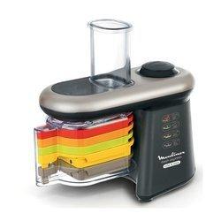 Fresh Express Cube & Stick DJ 905810noir argent rapeur éminceur batteur trancheur mixeur avec rangement accessoires blender avec éléments amovibles compatibles au lave-vaisselle
