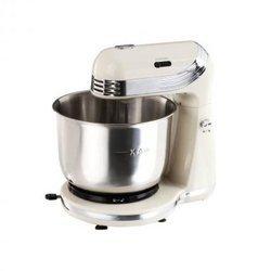 DOP 137 Cbeige pétrin fouet 3 litres batteur kit pâtissier 6 vitesses melangeur avec pied anti-dérapant avec bol en inox