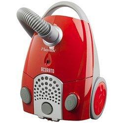 ABG 250 RSE rouge traineau avec sac 80 dB 1100 Watts avec enrouleur de câble automatique 1,3 litres avec tube télescopique avec témoin de remplissage du sac avec position parking avec poignée de transport Classe B