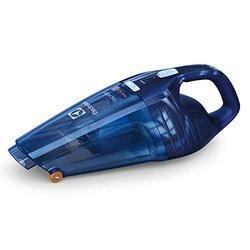 Rapido ZB 5104 WDBà main rechargeable sans sac 10 minutes 0,50 litre 4,8 Volts sans fil avec technologie cyclonique avec roues souples avec poignée ergonomique bleu profond