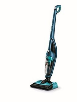 PowerPro Aqua FC 6405/01  balai 40 minutes 83 dB 0,60 litre 18 Volts avec position parking microfiltre avec brosse sol dur sans fil avec réservoir amovible bleu et noir