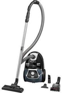 MO 3985 PAtraineau avec sac filtre HEPA avec variateur de puissance avec tube métal télescopique 75 dB 3 litres avec enrouleur de câble automatique avec témoin de remplissage du sac Classe A 750 Watts avec filtre permanent lavable