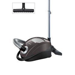 BGL 45500 noir traineau filtre HEPA avec variateur de puissance 75 dB avec enrouleur de câble automatique avec tube télescopique avec témoin de remplissage du sac 5 litres avec poignée de transport Classe A 750 Watts avec brosse sol dur avec poignée ergonomique