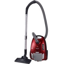 Telios Plus TE 70 TE 75 rouge traineau avec sac filtre HEPA avec variateur de puissance avec tube métal télescopique 66 dB avec brosse parquet 3,2 litres avec poignée de transport avec brosse meuble Classe A 700 Watts