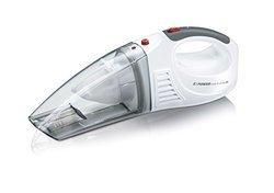 HV 7144Sà main rechargeable 18 minutes sans fil avec témoin de charge 0,10 litre avec fonction nettoyage à sec blanc neige et rouge grenat 7,4 Volts avec fonction nettoyage humide