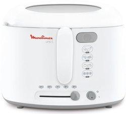 Fri Uno AF 1651112,1 litres permanente 1900 Watts avec thermostat réglable 1 kg sans odeur avec témoin lumineux Blanc et Gris avec pieds antidérapants Classique